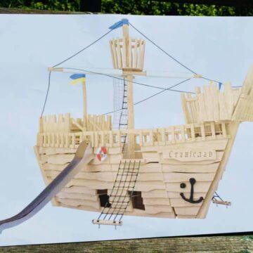 Біля франківського озера облаштовують оригінальні ігрові локації (ФОТО)