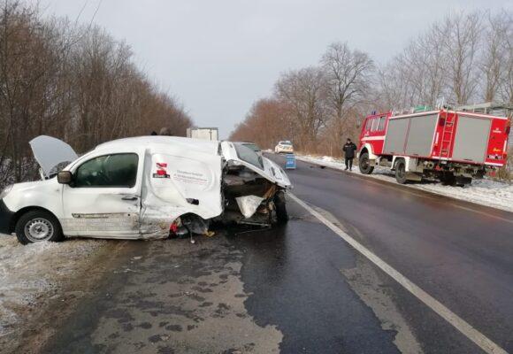 На Снятинщині сталося ДТП за учстю двох автомобілів. ФОТО