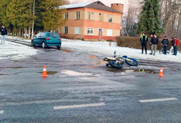 На Богородчанщині п'яний водій скоїв ДТП, в якій постраждав мотоцикліст