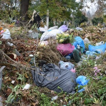 У Підпечерах сільське кладовище перетворили на сміттєзвалище
